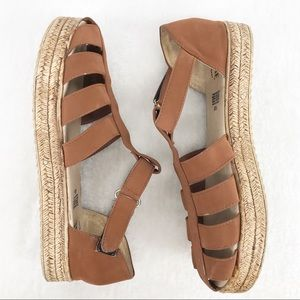 Mate Sandals from Mexico Brown with Velcro Strap
